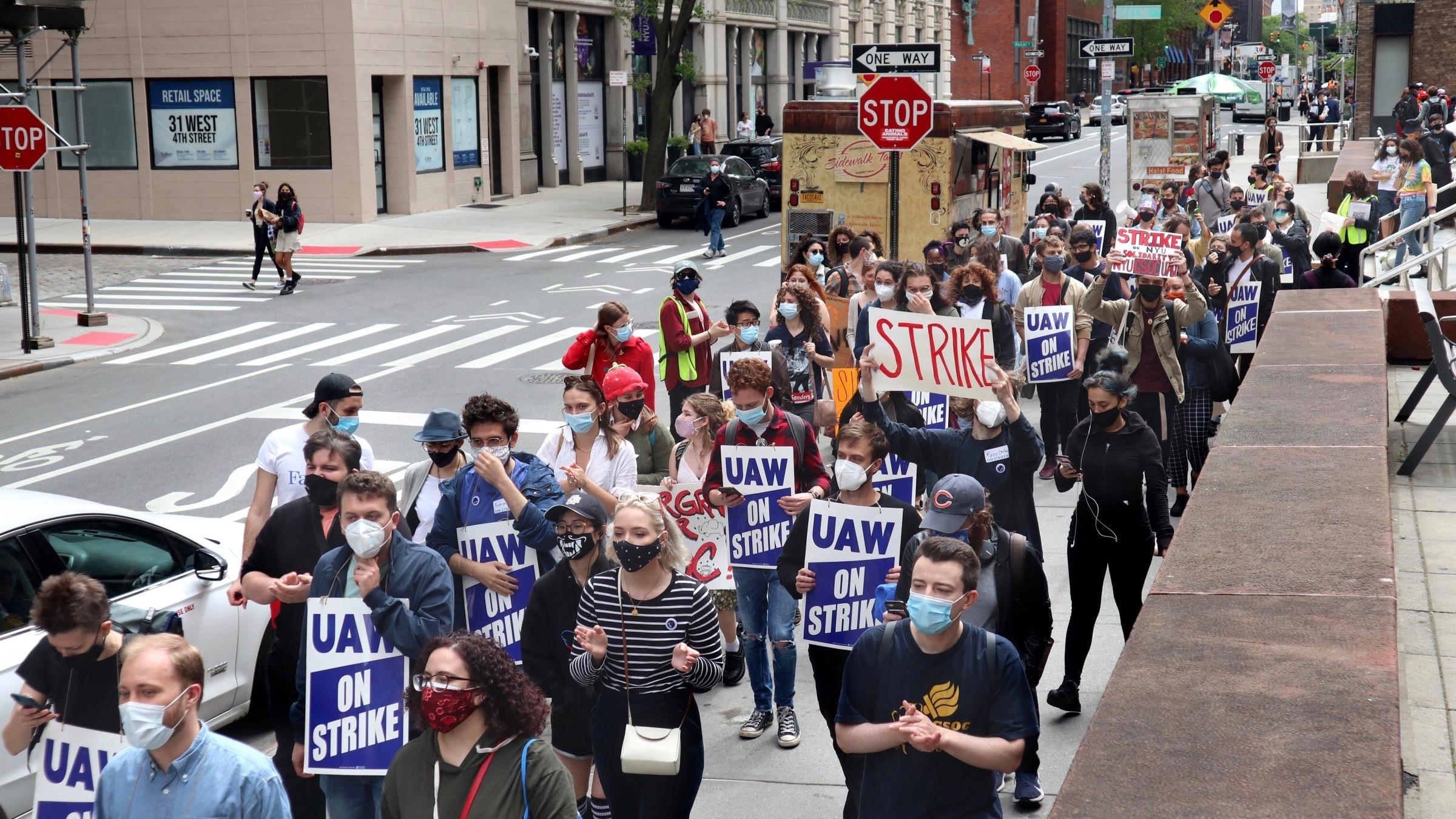 US students strike