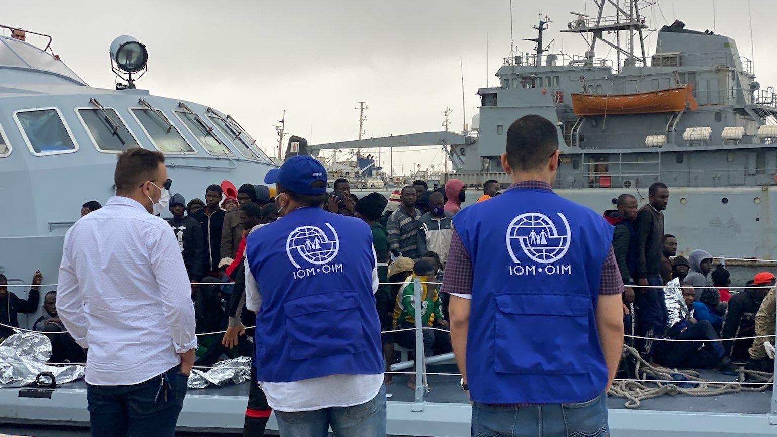 Migrant boat capsizes Libya