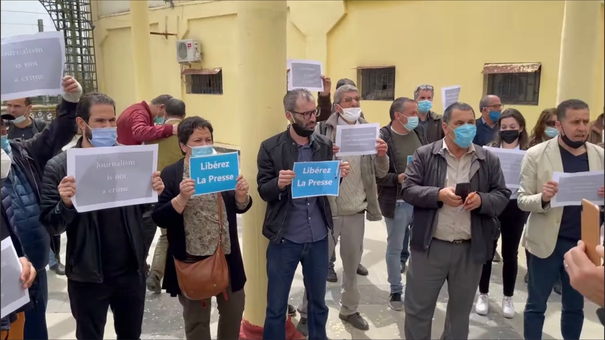 Journalists protest Algeria