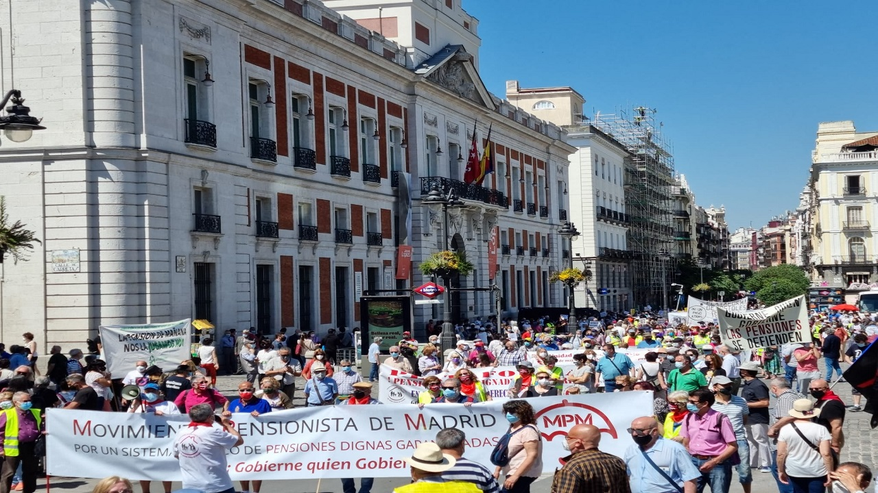 Pensioners Protest-Spain