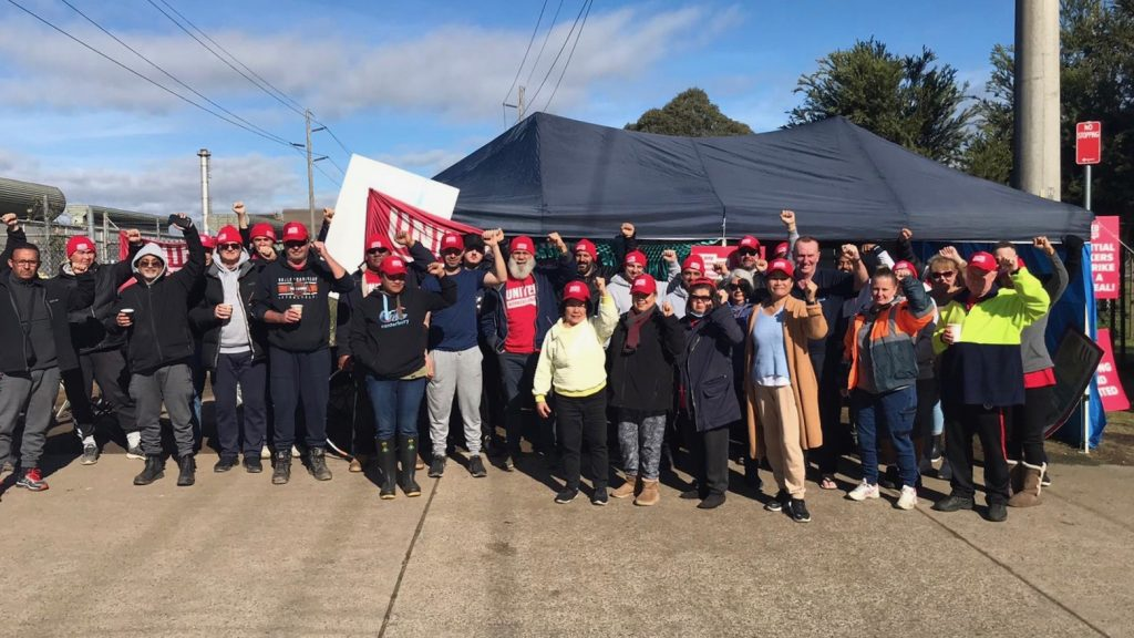 Workers strike Australia