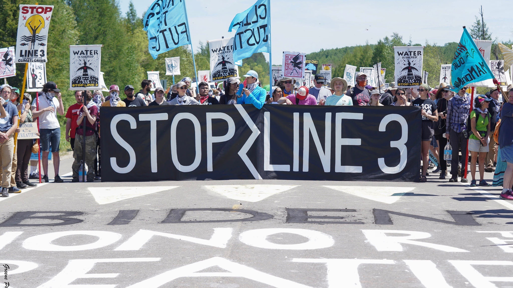 US pipeline protest