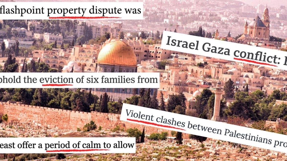 Biased news coverage Israel-Palestine