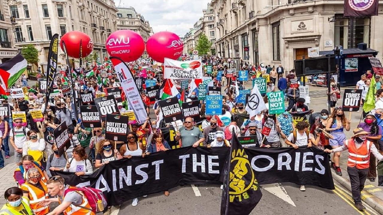 Anti-Tory demo-London