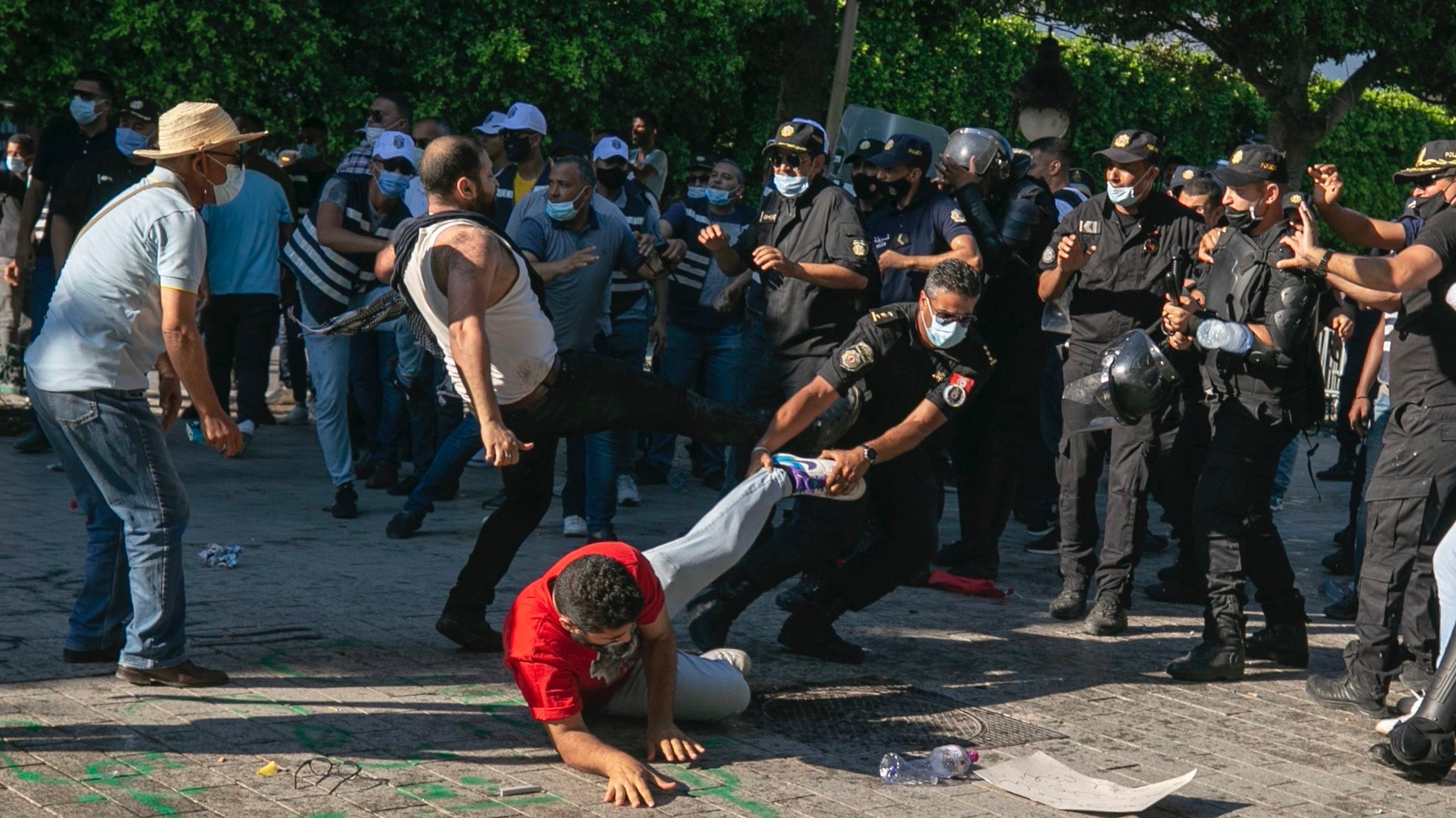 Tunisia protests against police brutality