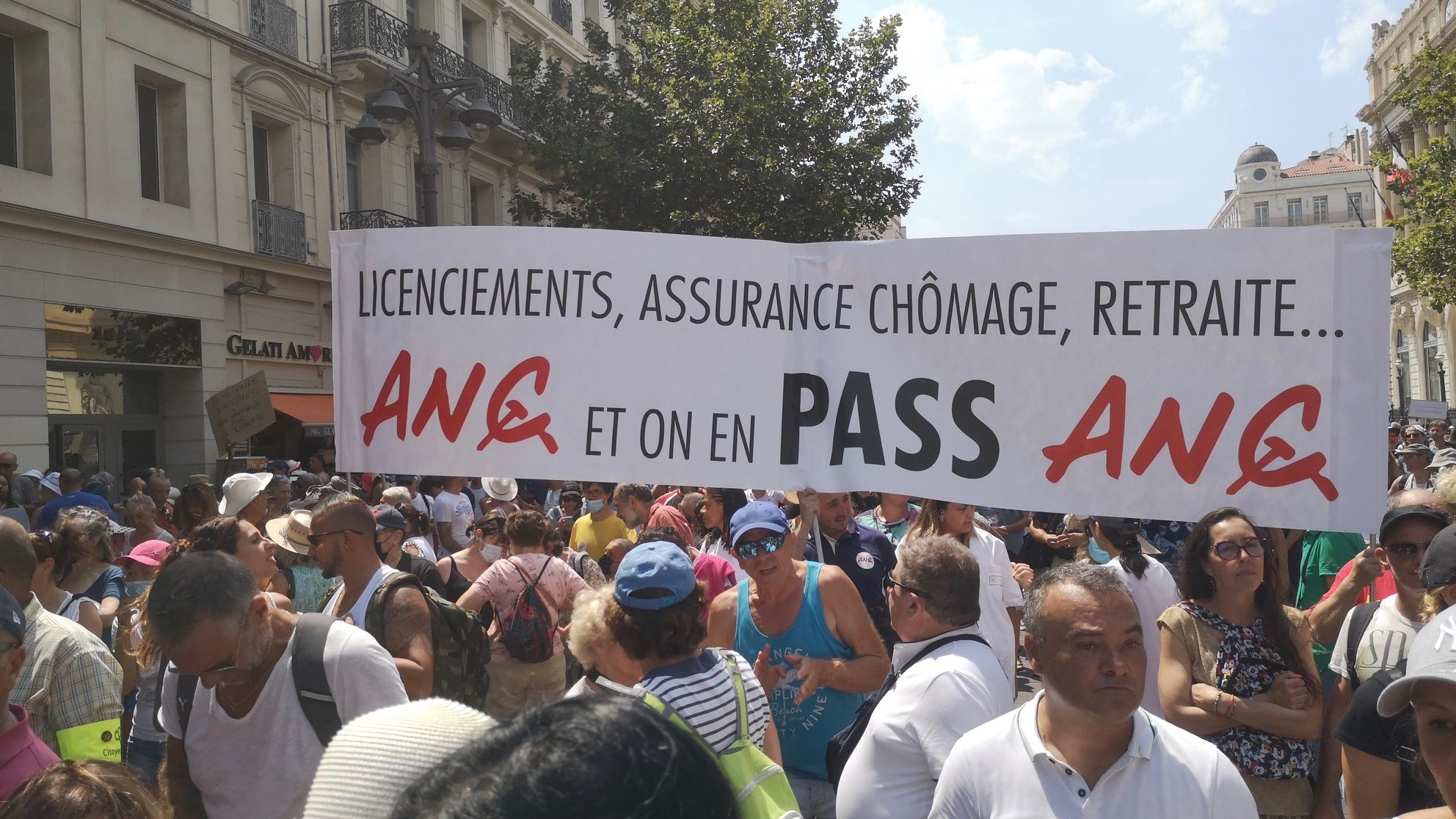 Protests against new COVID regulations-Europe