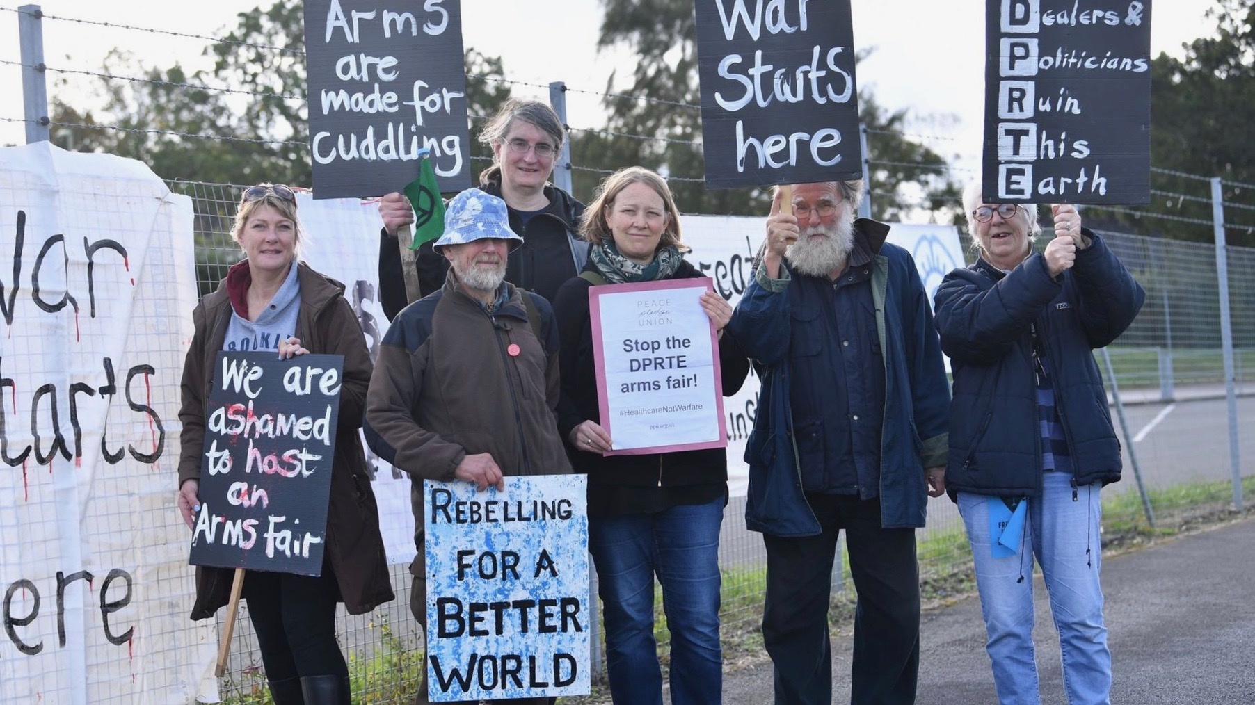 Arms fair protest-UK